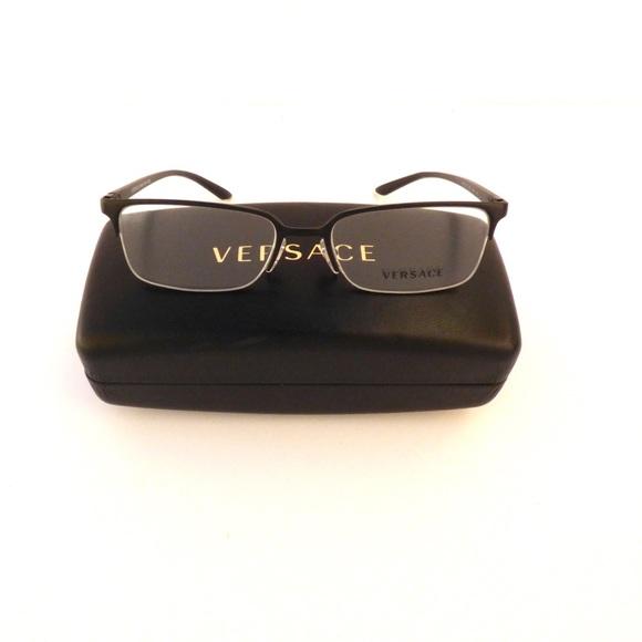 68255df25645 Authentic Versace Half Rimless Black Eyeglasses. M 5ab9774f1dffda6d235e4d69